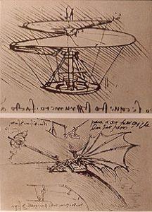 Leonardo da Vinci's ornithopter design